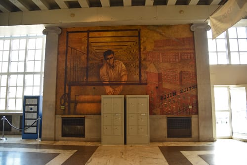 Murals by Bernarda Bryson Shahn seen at Bronx General Post Office, Grand Concourse, Bronx - Resources of America