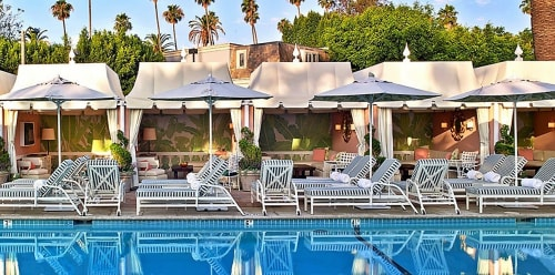 Murals by Paulin Paris Studio seen at The Beverly Hills Hotel, Beverly Hills - Poolside Cabana Paintings