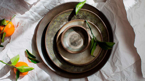 Ceramic Plates by MaryMar Keenan seen at Bellota, San Francisco - Handmade Tableware