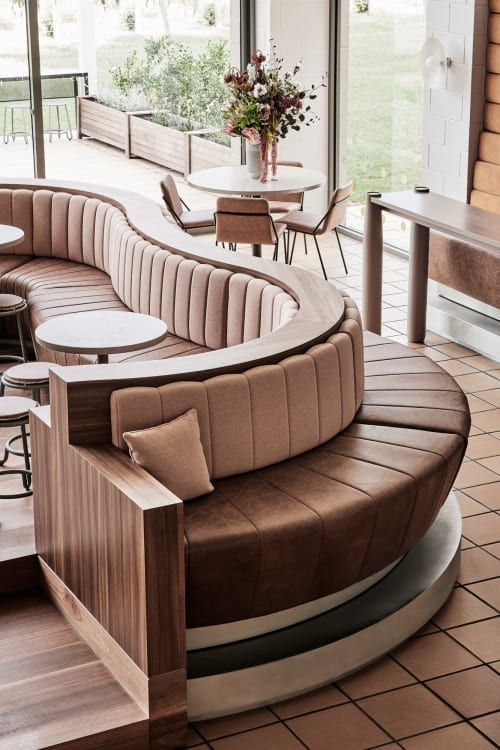 Furniture by Pelle Leathers at Domaine Chandon, Coldstream - Nevada Aged Leather