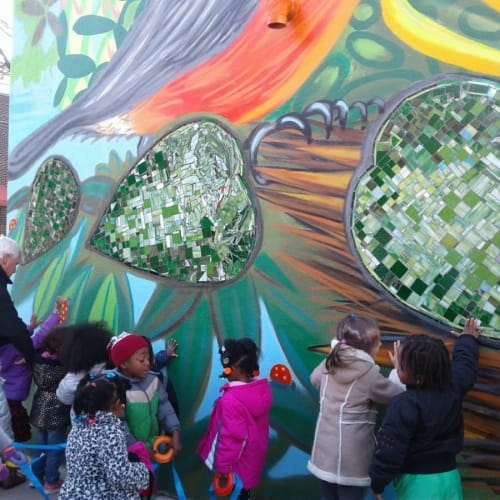 Murals by Paul Santoleri seen at Care Center Foundation, West Chester - CCF Mural