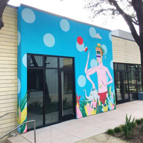 Murals by Drigo seen at The Hill Shopping Center, Dallas - The Collective Energy