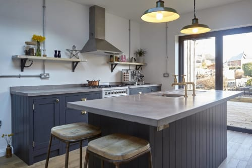 Tables by Warrington & Rose seen at Private Residence, Leicester - Polished Concrete Worktops