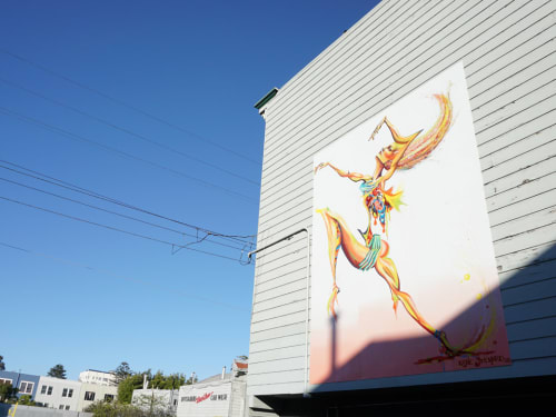 Street Murals by Katie Steward seen at Oak & Divisadero, Haight-Ashbury, San Francisco - Dance