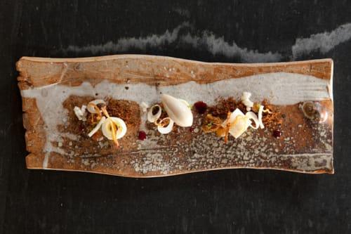 Lynn Mahon Trays | Ceramic Plates by Lynn Mahon | The Restaurant at Meadowood in Saint Helena