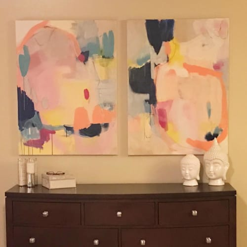 Paintings by Mary Elizabeth Peterson at Private Residence, Winter Garden - Passions 2