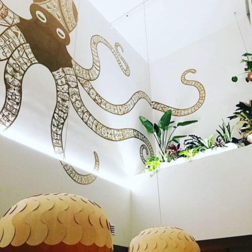 Murals by Chris Zidek seen at Little Octopus, Nashville - Mural