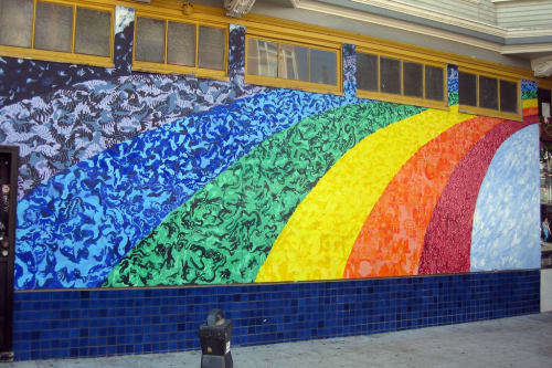 Street Murals by Yana Zegri seen at 601 Cole Street, San Francisco - Evolutionary Rainbow