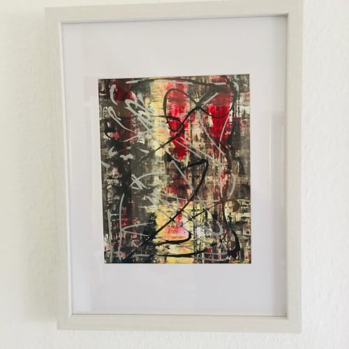 Paintings by Beata Zielinska seen at Private Residence, Stuttgart - Acrylic on Paper