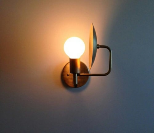 Sconces by Workstead seen at Rivertown Lodge, Hudson - Orbit Sconce