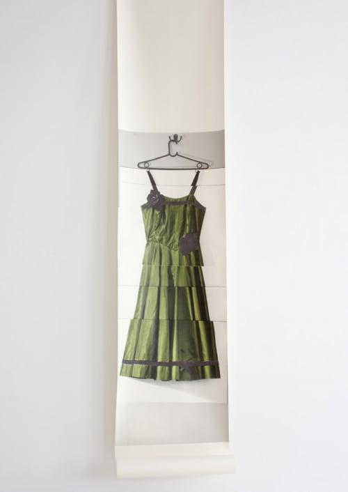 Wallpaper by Deborah Bowness seen at Hôtel du Petit Moulin Paris, Paris - Rose Dress Wallpaper