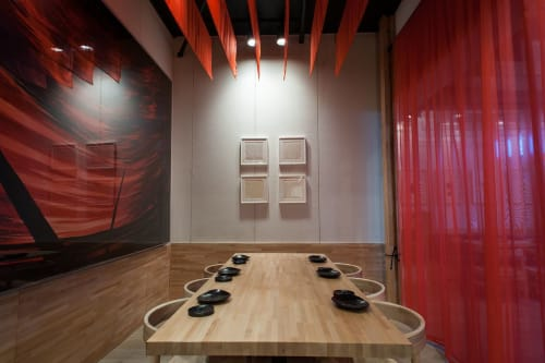 Tables by Marwan Al Sayed Inc. seen at Hamasaku, Los Angeles - Maple Tables