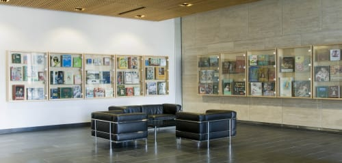 Paintings by Jean Lowe seen at UCSF Medical Center at Mission Bay, San Francisco - Books and Ideas in an Age of Anxiety