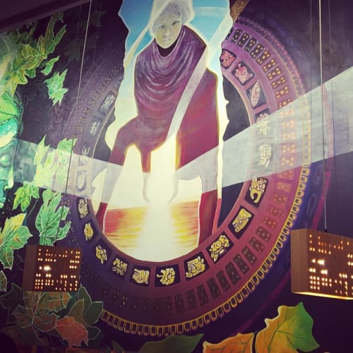 Murals by Francisco Letelier seen at Whole Foods Market, Los Angeles - Reflecting The Light