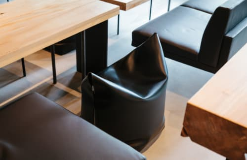Chairs by Manifesto Design seen at In Situ, San Francisco - Mao Pouf
