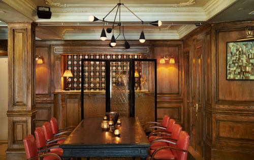 Lighting by Apparatus Studio at The Marlton Hotel, New York - Triad & Dyad Light Fixture