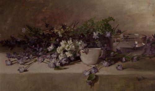 Paintings by Nora Allis Schmalhorst seen at Mills College Art Museum, Oakland - Still Life