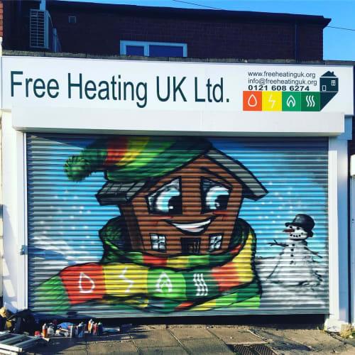 Street Murals by Dynamick seen at Kings Norton, Birmingham - Mural
