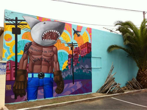 Murals by John Park seen at CLEAN {aesthetic} Playa Del Rey, CA, Los Angeles - Sharkboy 2014