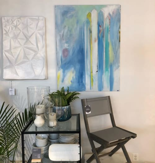 Paintings by Heather Kirtland seen at west elm, Baltimore - Towers