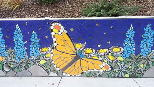 Public Mosaics by New World Mosaics seen at Melrose Leadership Academy, Oakland - Dreaming the Path