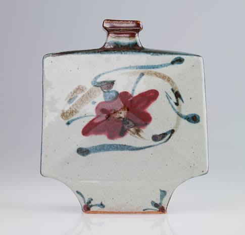 Vases & Vessels by Kawai Kanjirō seen at Mills College Art Museum, Oakland - Large Rectangular Bottle