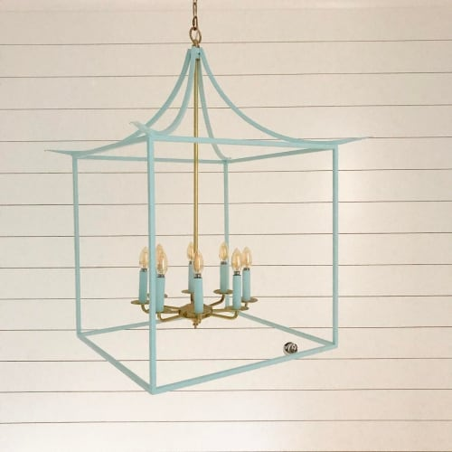 Pendants by vanCollier seen at Private Residence, Jupiter - Pagoda Lantern