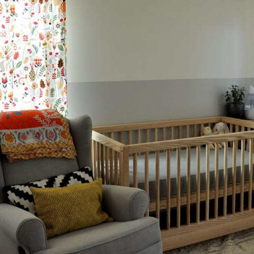 Furniture by Rigby Lovett seen at Private Residence, Oakland - Custom Ash Crib