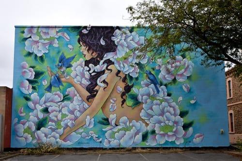 Street Murals by Amandalynn seen at Port Adelaide, Port Adelaide - Violet