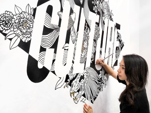 """Murals by Loe Lee seen at Translation LLC, Brooklyn - """"We Are The..."""""""