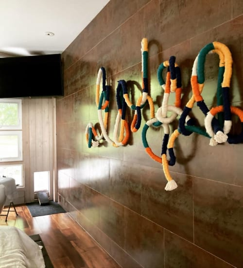 Knotty Rope Wall Piece | Wall Hangings by Trudy Perry