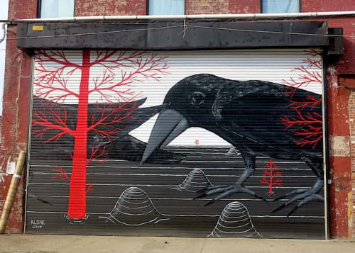 Street Murals by Klone seen at Brooklyn New York, Brooklyn - Red Hook