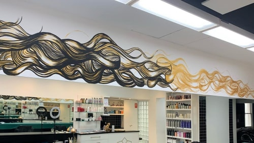 Murals by Juzpop Creations seen at GIGI Instyle, Hawthorn - Gigi Salon Counter Mural