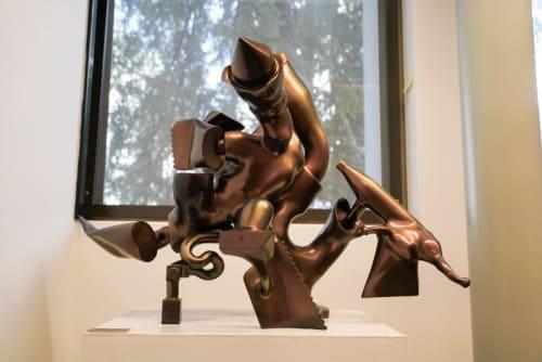 Sculptures by Joseph Slusky seen at Environmental Design Library, Berkeley - Cornucopia