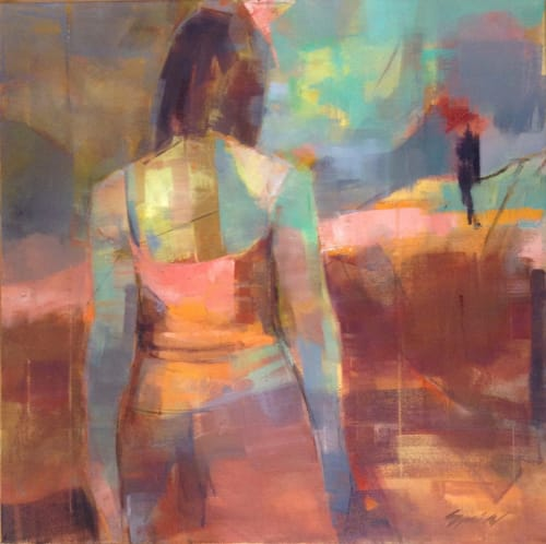 Paintings by Sandra Speidel seen at Sebastopol Center For the Arts, Sebastopol - Looking Forward, Looking Back
