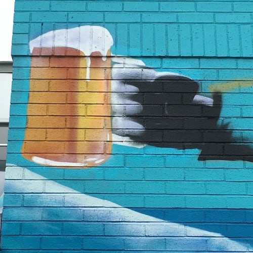 Murals by Christian Toth Art seen at The Hub Too, Dartmouth - Mural