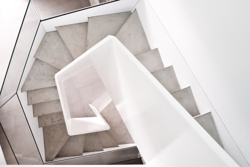 Hardware by Amuneal at Private Residence, New York - Geometric Staircase