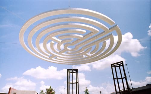 Sculptures by Lewis deSoto seen at The University of Texas at San Antonio, San Antonio - Labyrinth Gateway  2003