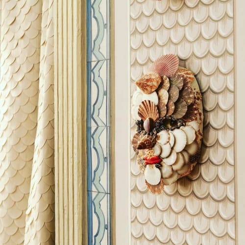 Wall Hangings by Christa Wilm seen at Christa's South Seashells, West Palm Beach - Shell Mask