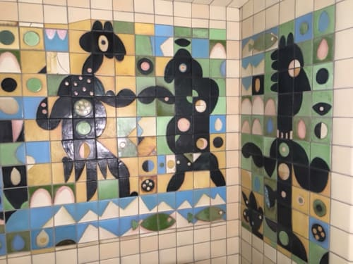 Murals by Liz Surbeck Biddle seen at Private Residence, Berkeley - Dancers