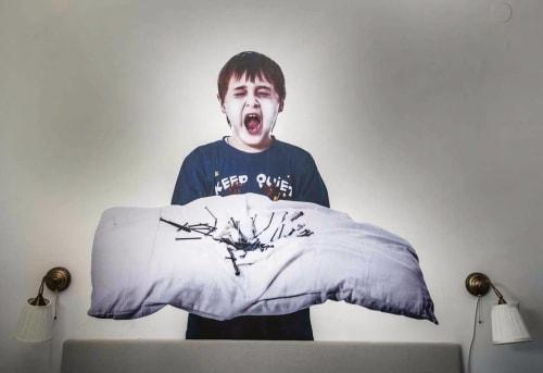 Murals by Bifido seen at Private Residence - Sleepless Kid Mural