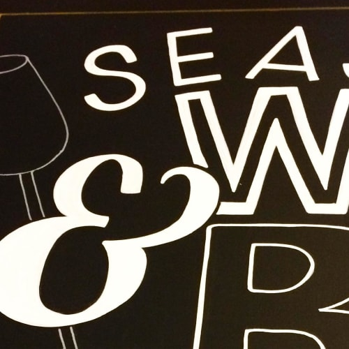 Art & Wall Decor by lauren | letra design studio seen at LYFE Kitchen, Chicago - Chalkboard Art