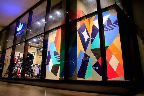 Murals by Mark Barretto seen at Uptown Mall - BGC Mall, Taguig - Mural