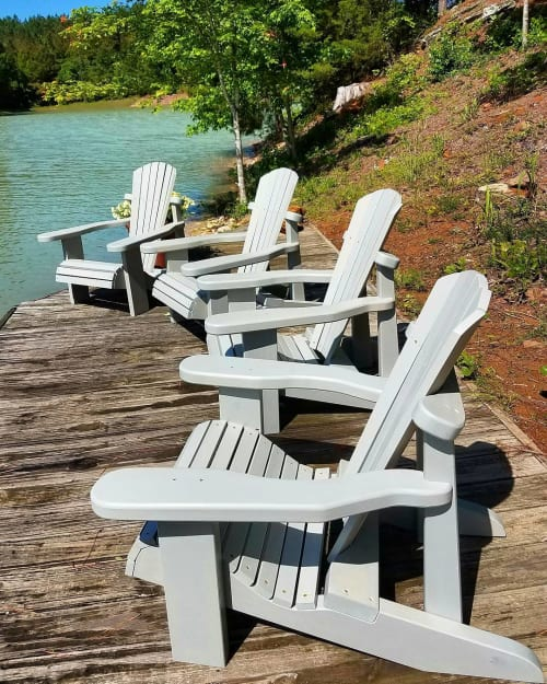 Chairs by Roxie Woodworks seen at Splinter Creek, Taylor - Adirondack