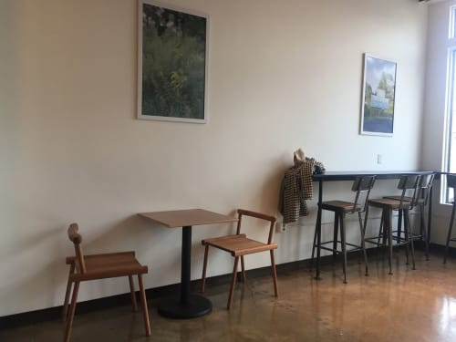 Chairs by Lucca Zeray seen at Big Mouth Coffee Roasters, Beacon - Tawa Chair