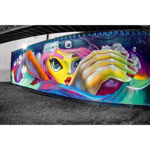 """Murals by Yuhmi Collective seen at Private Residence, Miami - """"Once Upon A Dream"""""""