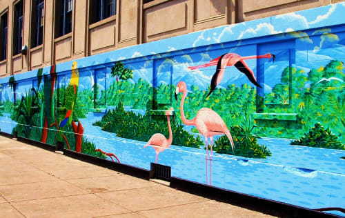 Street Murals by Gamaliel Ramirez seen at 2601 W Division St, Chicago, Chicago - Birds of Latin America