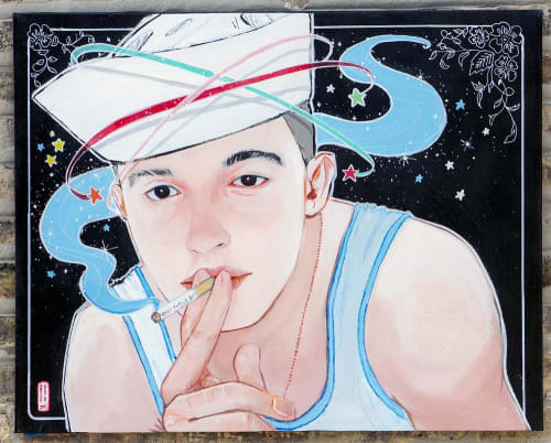 Paintings by Julius Dizon Cruz Bautista Visual Art seen at Private Residence, Miami Beach - Sailor