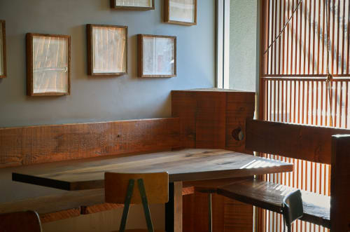 Tables by Jacob May Design seen at Ramen Shop, Oakland - Corner Wood Table