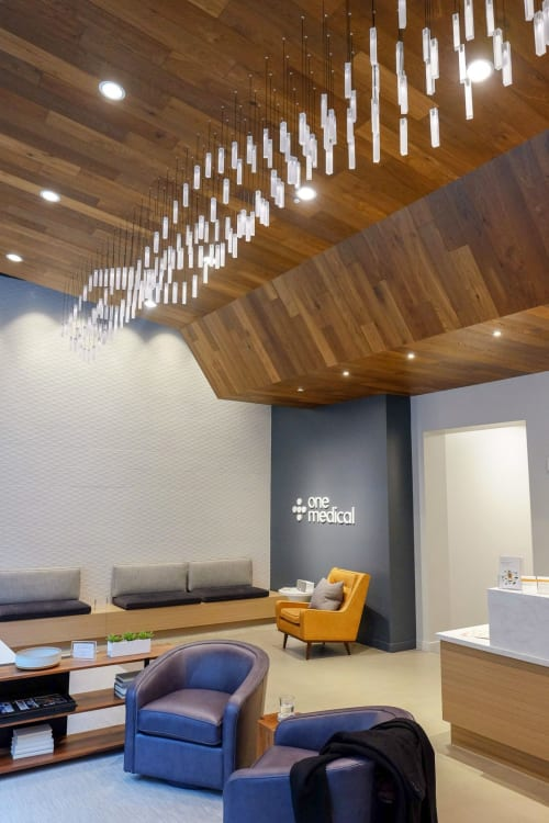 Pendants by Graypants seen at One Medical, Seattle - Loci Fixtures